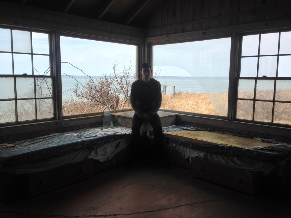 David sits and listens for ghosts