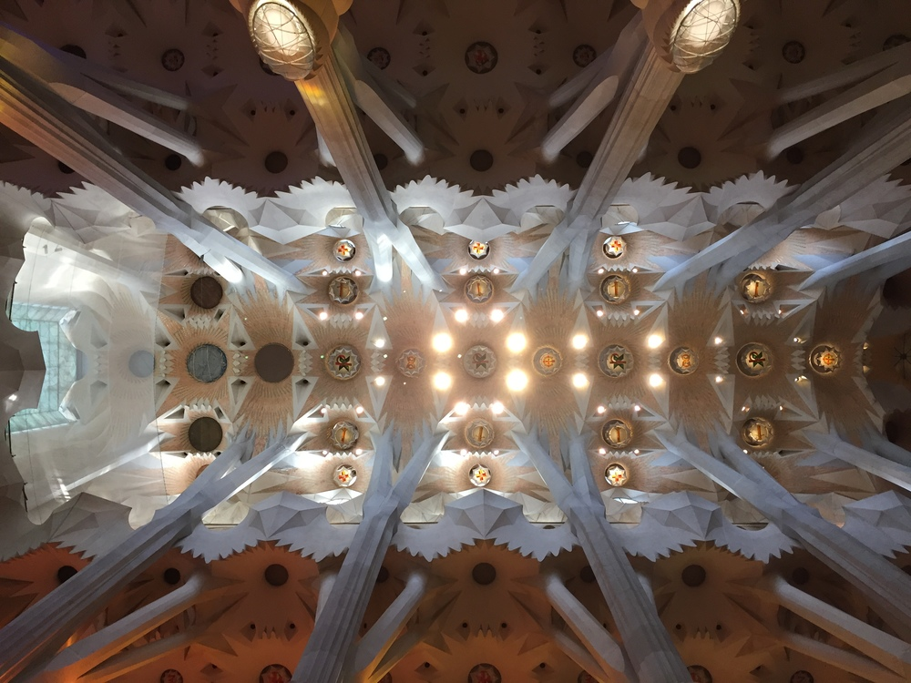 The ceiling at Sagrada Familia