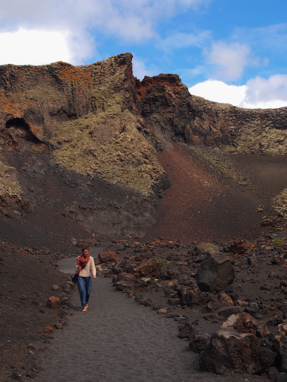 Walking inside the crater of Volcan del Cuervo