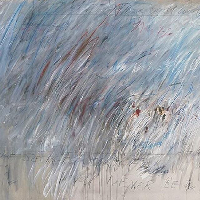 Everyday is art day #cytwombly #abstractart #contemporaryart #poetry