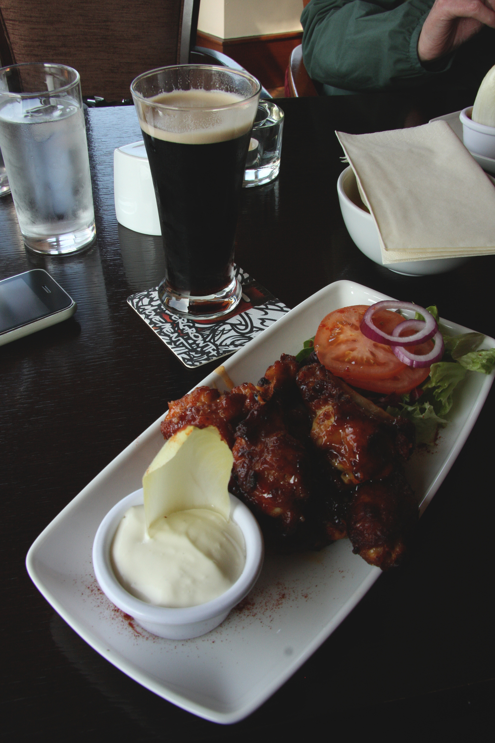 Along with that first-ever Guinness? The best wings I have ever had, to this very day.