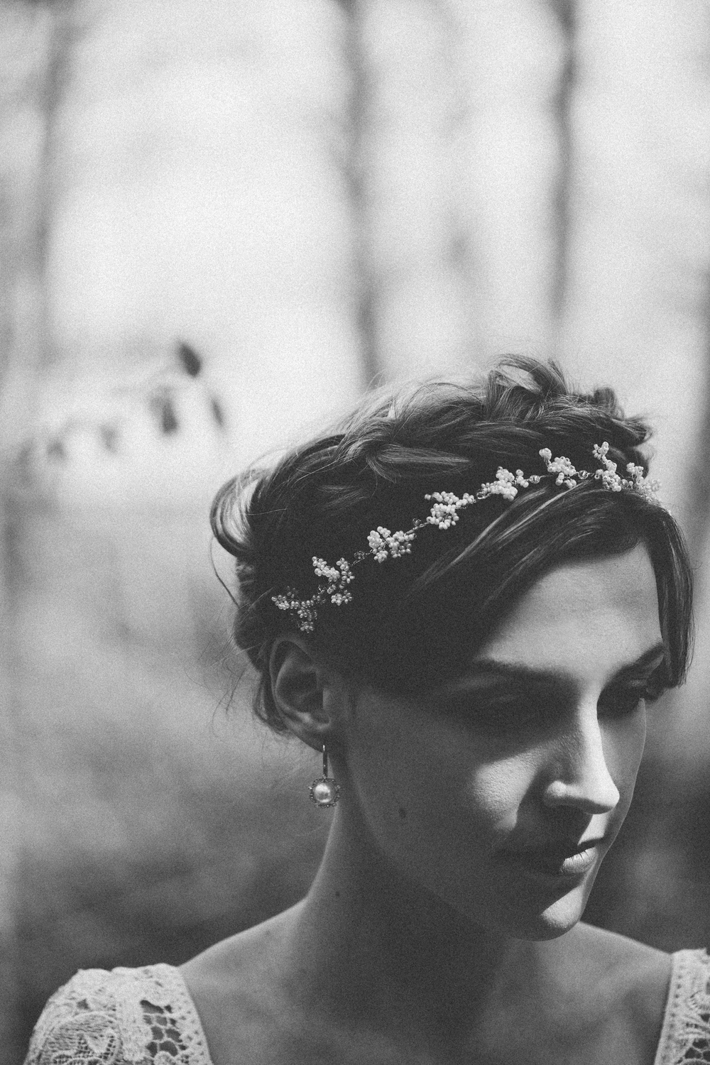 Intimate organic bridal portraits