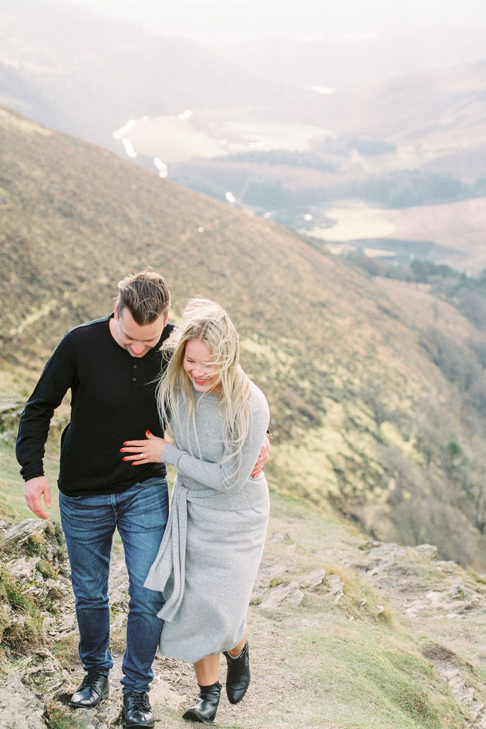 Windy Irish Engagement Shoot