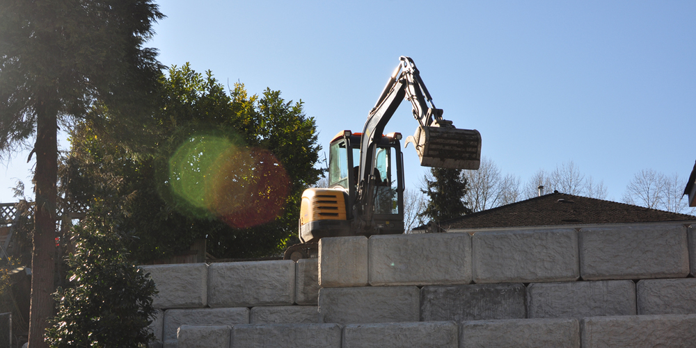 Low Stone Retaining Wall