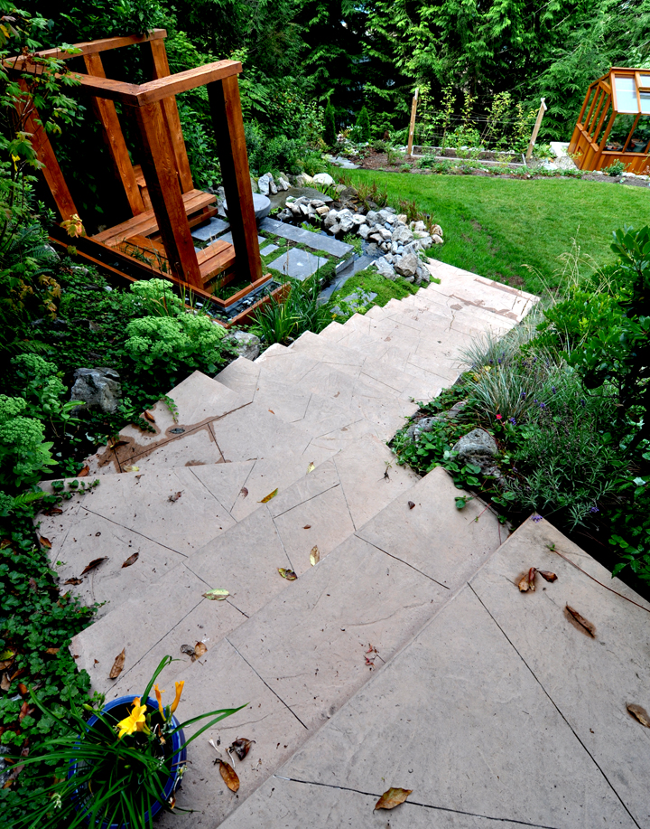 Stamped Concrete Stairs, Lions Bay.jpg