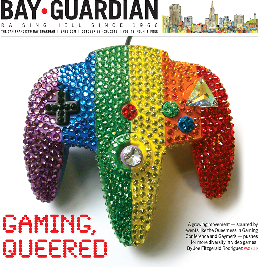 Queer gaming cover for the SF Bay Guardian, Oct. 23, 2013
