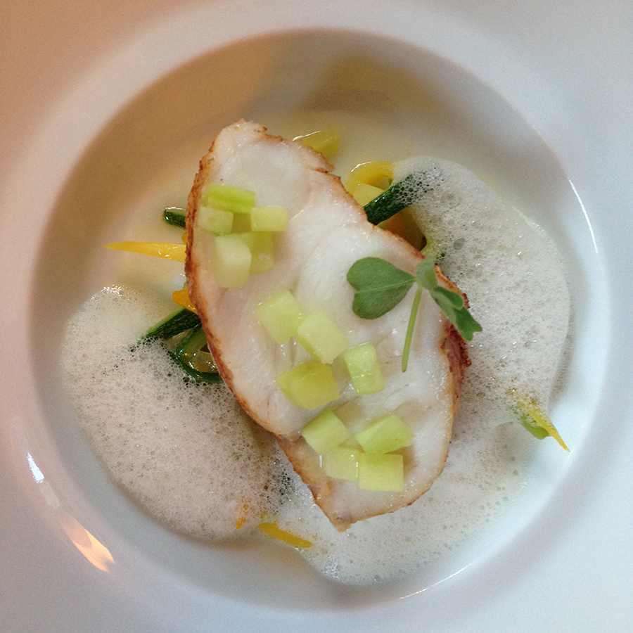 Monkfish at L'Agapé: course 4 of 7