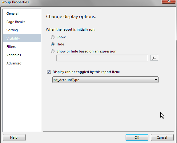 Expand or Collapse All Grouped Items on SSRS Report — SQL Chick