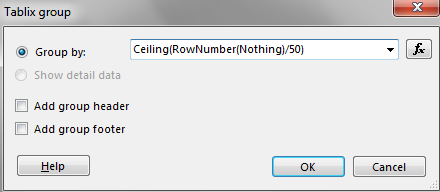 Displaying Fixed Number of Rows per SSRS Report Page — SQL Chick