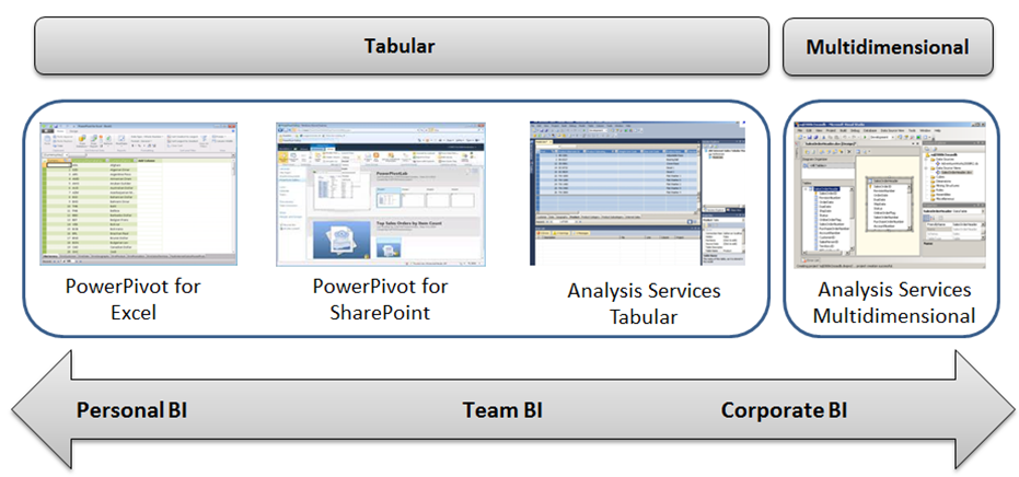 Decisions: PowerPivot, SSAS Tabular, or SSAS