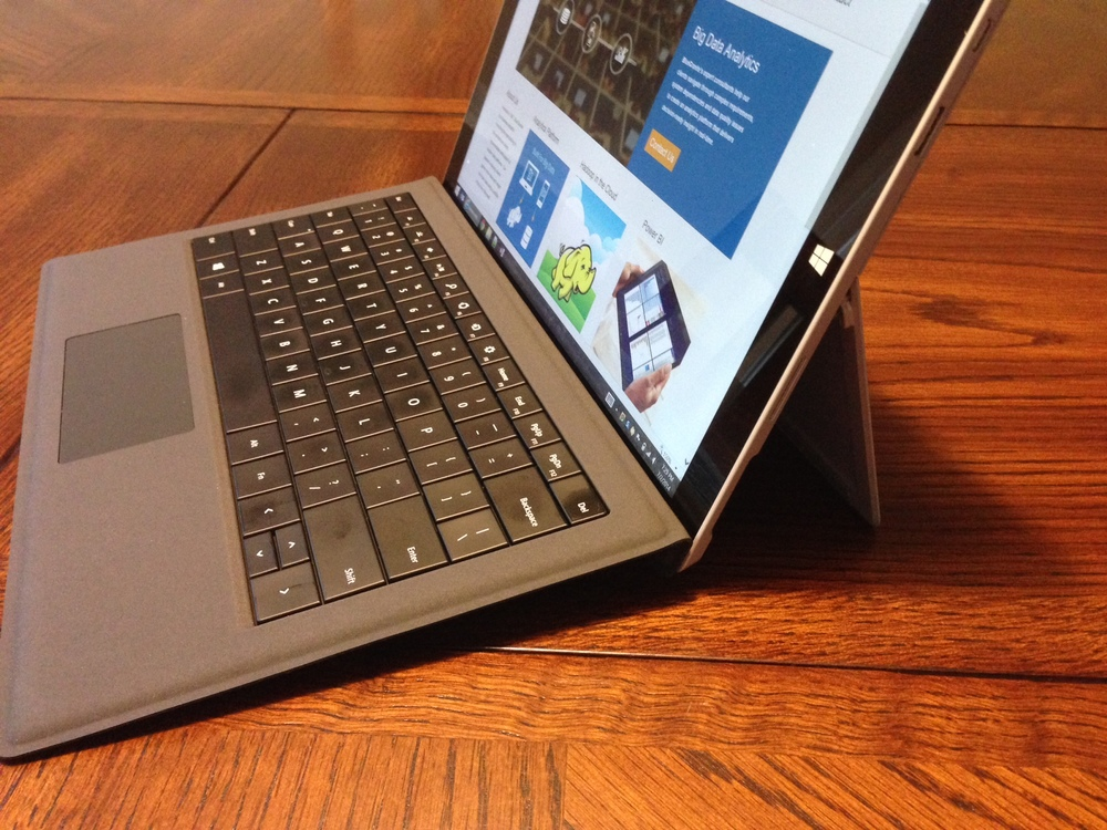 Angled keyboard on the Surface Pro 3