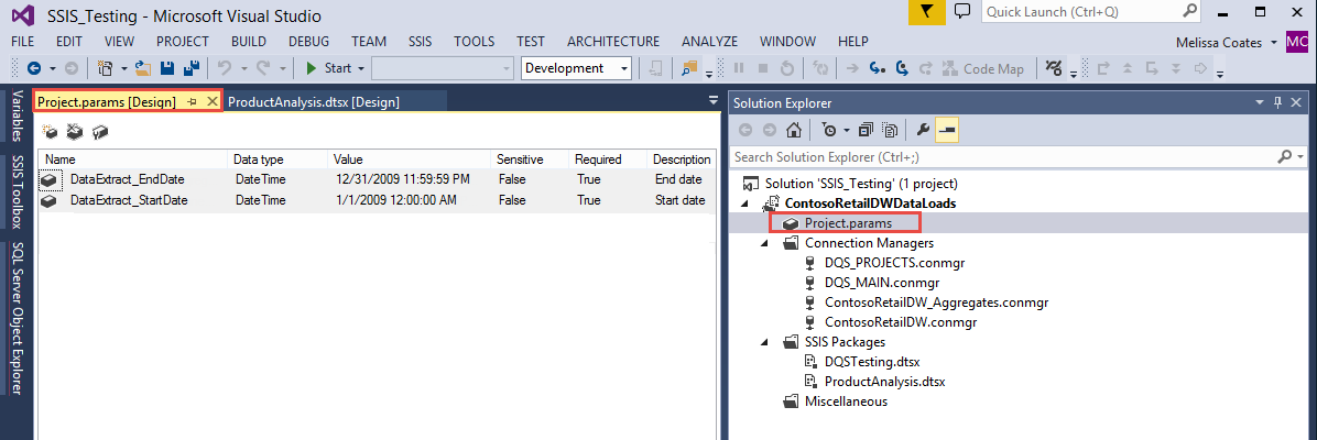 Parameterizing Connections and Values at Runtime Using SSIS
