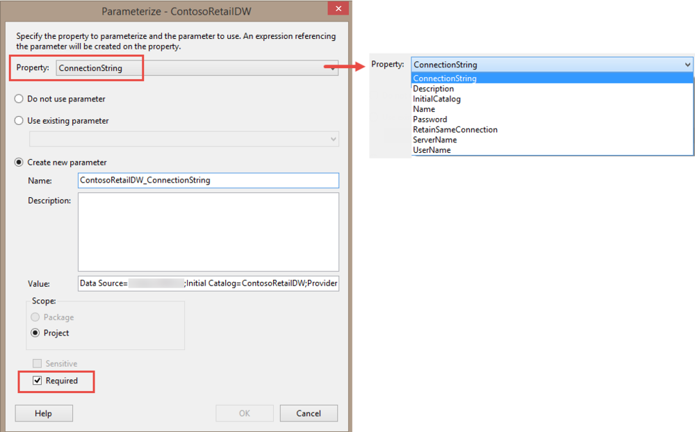 Parameterizing Connections and Values at Runtime Using SSIS Environment Variables