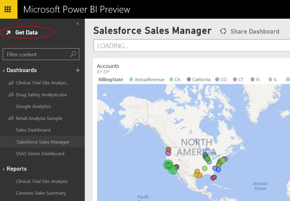 Connecting to Analysis Services From Power BI Website, Power