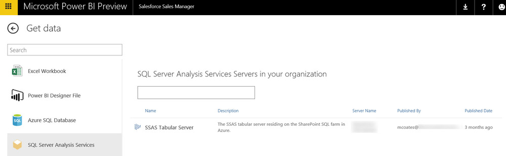 Connecting to Analysis Services From Power BI Website, Power BI Designer, and Excel (Part 4)