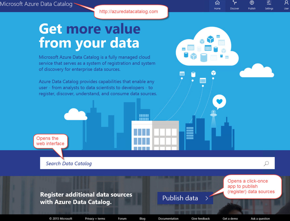 Overview of Azure Data Catalog in the Cortana Analytics Suite