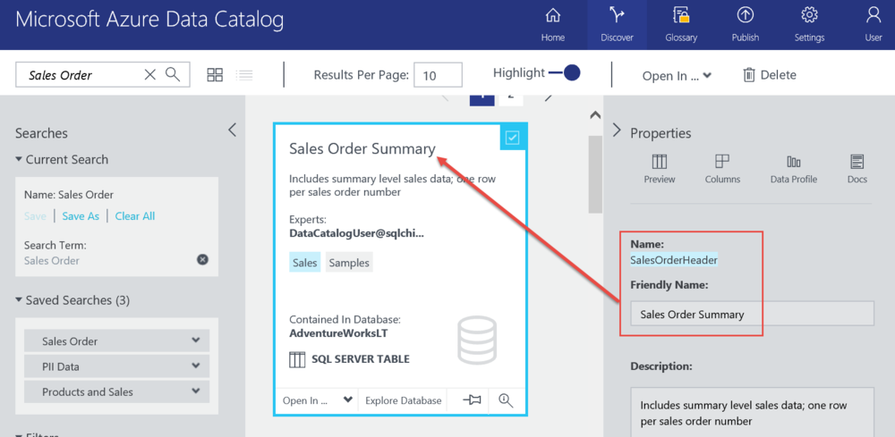 Tips for Using Azure Data Catalog