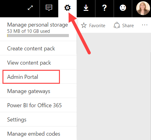 Power BI Admin Portal Settings