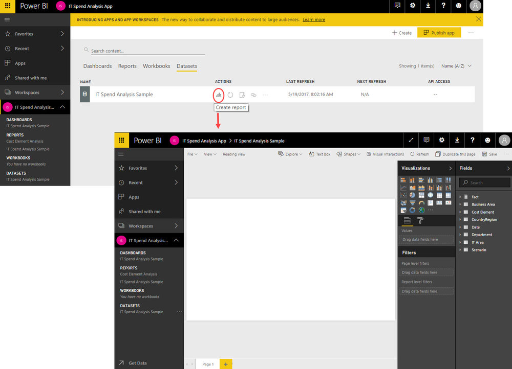 Reusing Datasets Imported to the Power BI Service