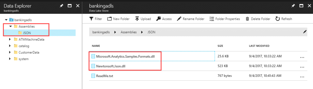 JSONCustomAssembliesInADLS Querying Multi Structured JSON Files with U SQL in Azure Data Lake