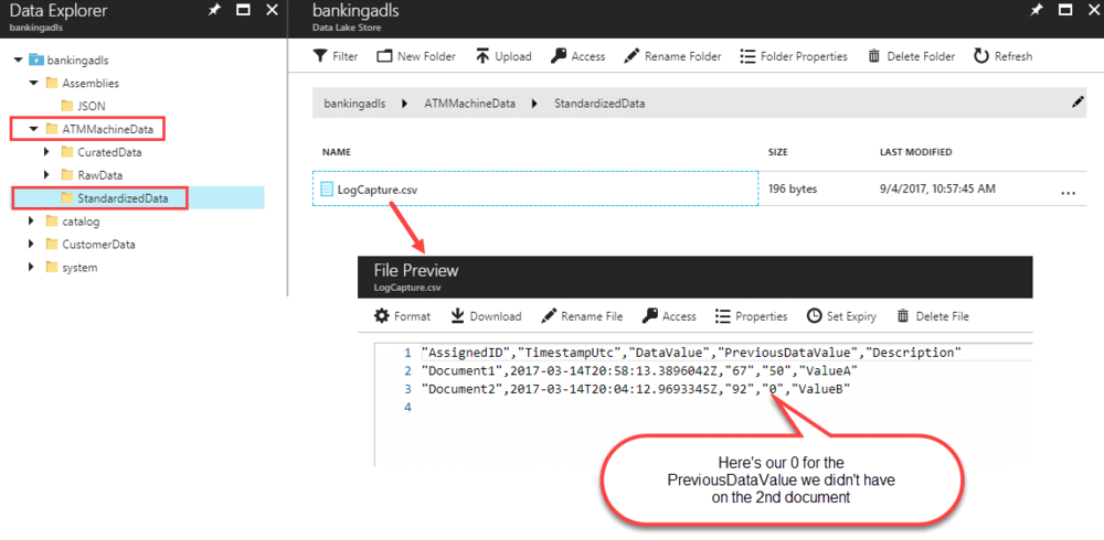 USQLOutputFile Querying Multi Structured JSON Files with U SQL in Azure Data Lake