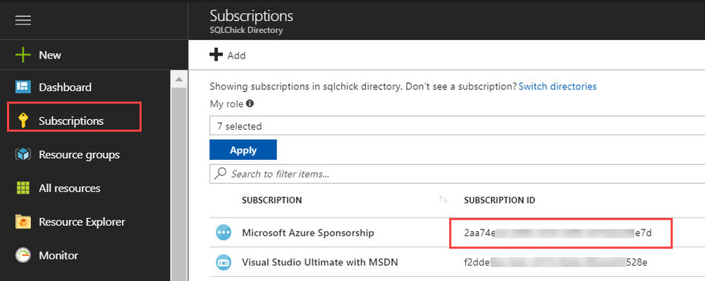 SubscriptionID Running U SQL on a Schedule with Azure Data Factory to Populate Azure Data Lake