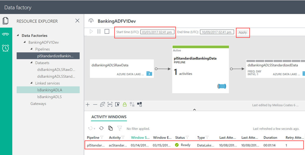 ADFM%26MApp Running U SQL on a Schedule with Azure Data Factory to Populate Azure Data Lake