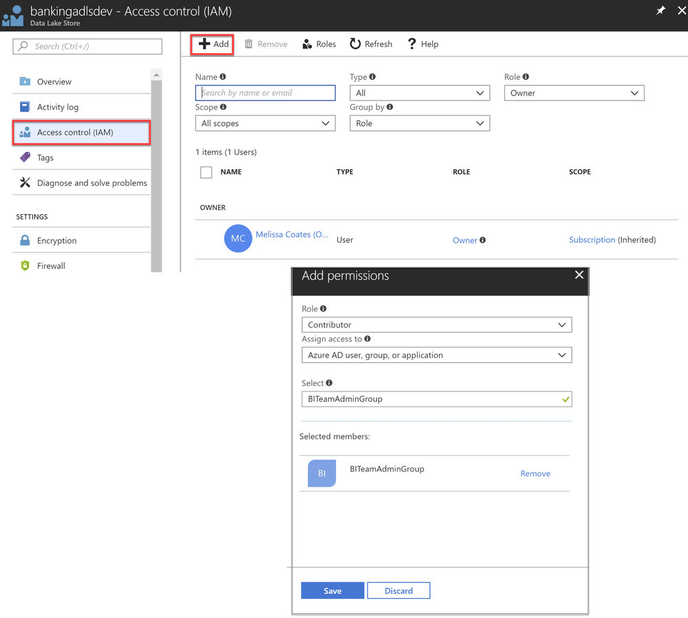 ADLS RBAC Portal Assigning Resource Management Permissions for Azure Data Lake Store (Part 2)