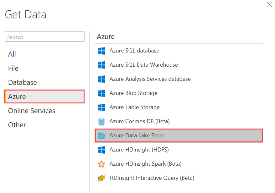 PowerBI ADLS Querying Data in Azure Data Lake Store with Power BI