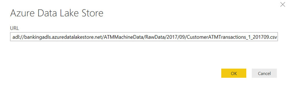 URL ADLS OneFile Querying Data in Azure Data Lake Store with Power BI