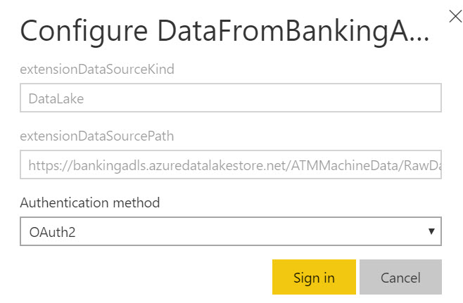 PowerBI ADLS DataRefresh Querying Data in Azure Data Lake Store with Power BI