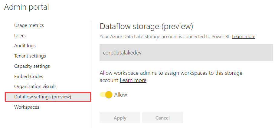 DataflowsSettings Three Ways to Use Power BI Dataflows
