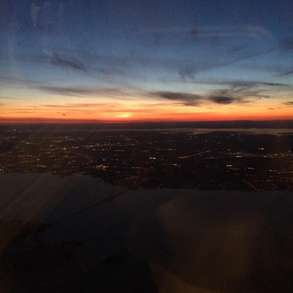 Landing safely back at JFK