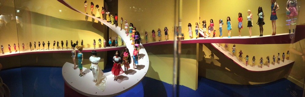 And the other side of the wall had a retrospective of Barbie. I wasn't expecting to see much.