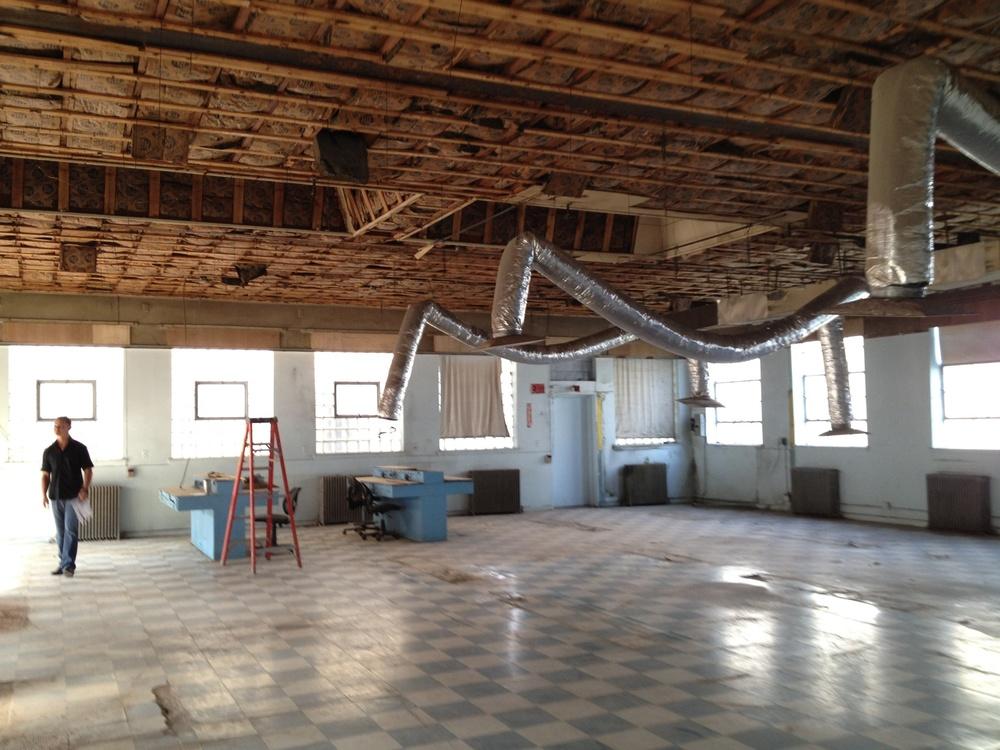 Bulls Ferry Studios during construction circa 2013