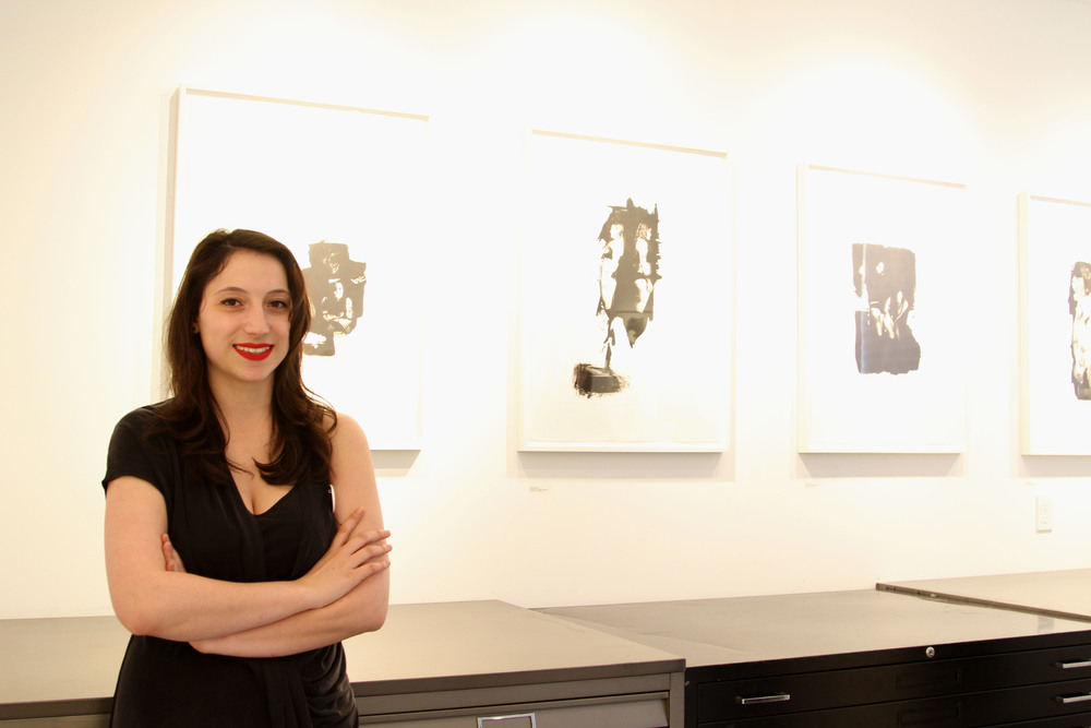 Christina Pumo in front of her work.