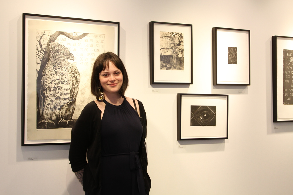 STAR Artist Kirsten Flaherty infront of her work