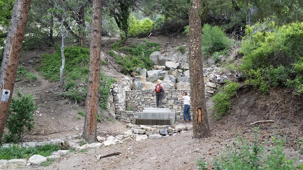 New spring box at Carlito Springs.