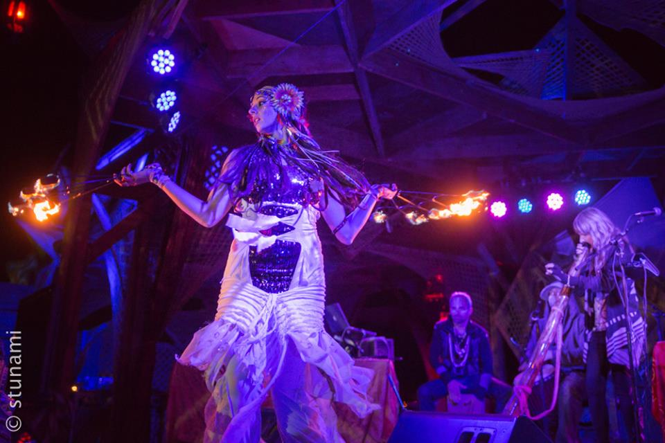 Sonida Sagrada performing with Shamans Dream at Lighting In A Bottle 2014.