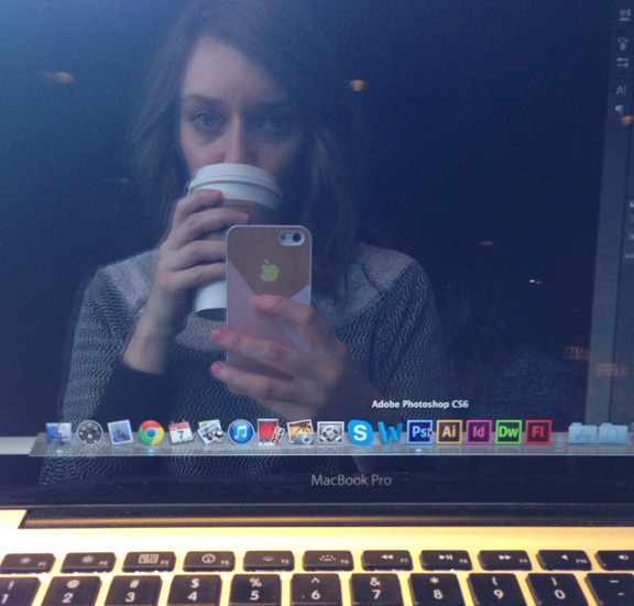 Just recently started going to cafe's to get my work done. Discovered it can be really efficient! When you aren't taking pics of yourself reflected in your macbook pro screen that is.