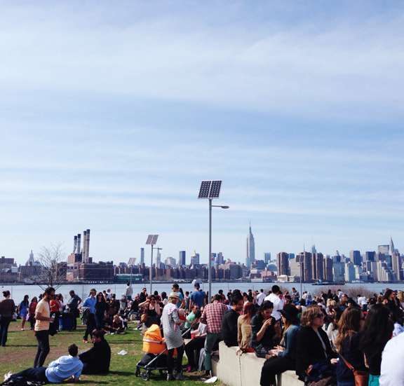 Hot day in the city for April and everyone was out at Smorgasburg. I mean everyone.