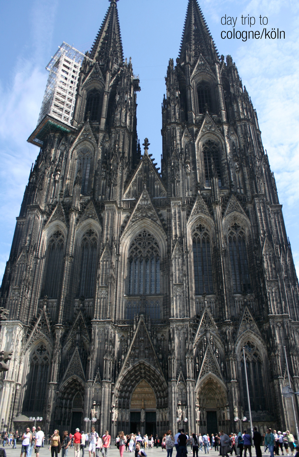 we took a day trip on the train to the city of Cologne. this cathedral is just breathtaking. and huge.
