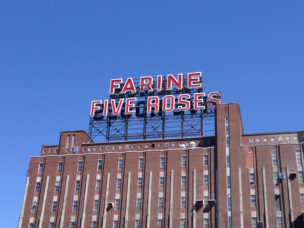 Walking along the canal to the Old Port you pass the iconic (for Montreal) Farine Five Roses old factory building.