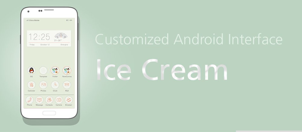 "Android UI, The ""Ice Cream"""