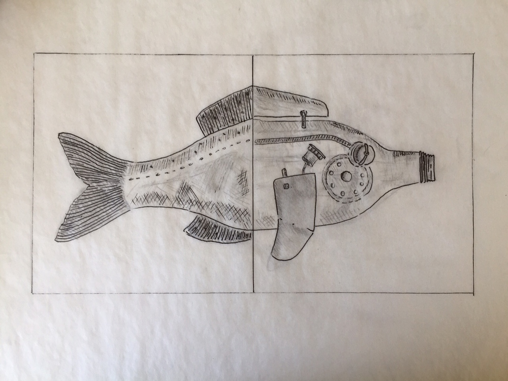 Robo/Fish Sketch by Kate Barber.