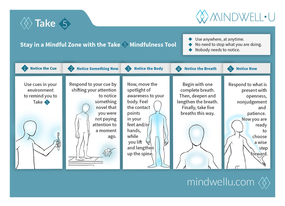 Mindwellu's take 5 infographic
