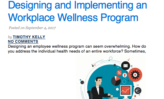 Workplace Wellness Article