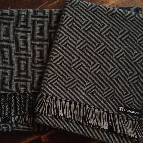 handwoven scarf - shadow weave - dani ortman