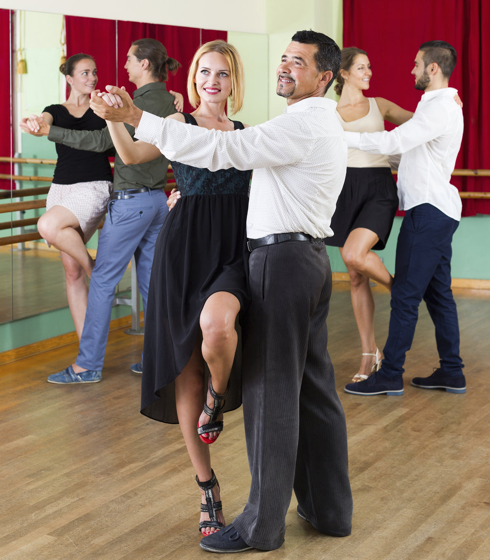 Social dancing is a great way to meet new people, learn the art of dancing with a partner, and exercise.