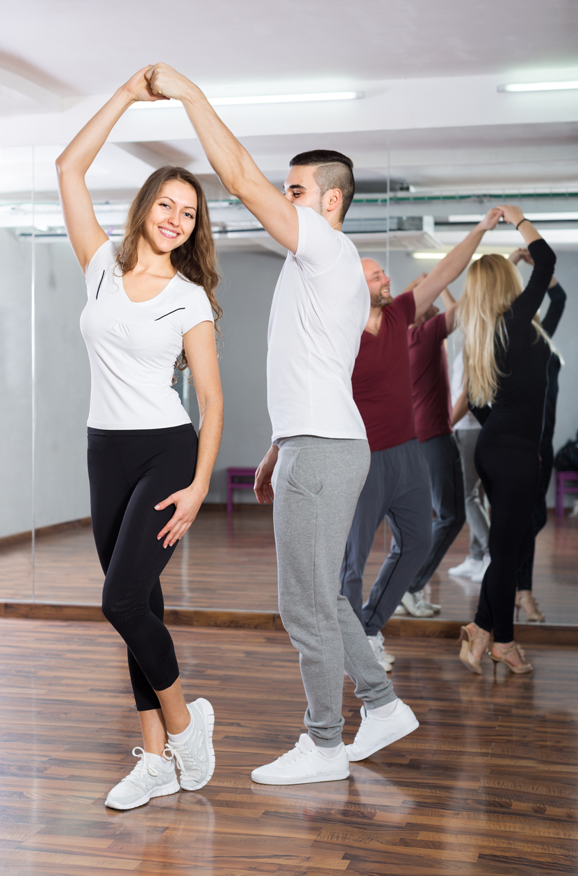 People using ballroom dancing as their form of non-traditional exercise in 2017.